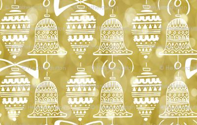 Celebrate The Season - Christmas Ornaments Gold Bokeh