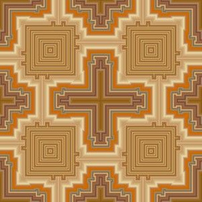 Brown Cross Geometric