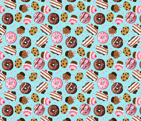 Yummy Treats fabric by tictactogs on Spoonflower - custom fabric