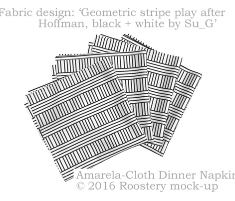 Geometric stripe play after Hoffman, black + white by Su_G