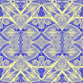 A Crop of Hearts and Spades (purple/yellow)