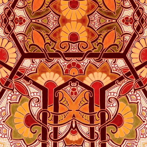 The Fire of Autumn fabric by edsel2084 on Spoonflower - custom fabric