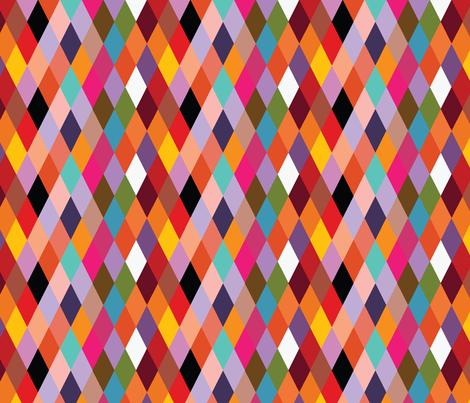 Mardi Gras Diamonds fabric by madmelody on Spoonflower - custom fabric