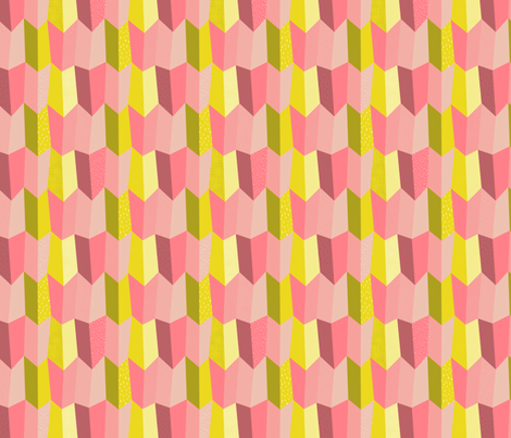 Ruffle some feathers - Pink  fabric by pinky_wittingslow on Spoonflower - custom fabric