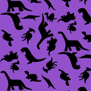 Dinos large dark purple