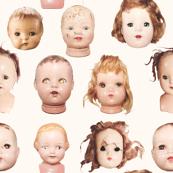 Doll heads print - Large