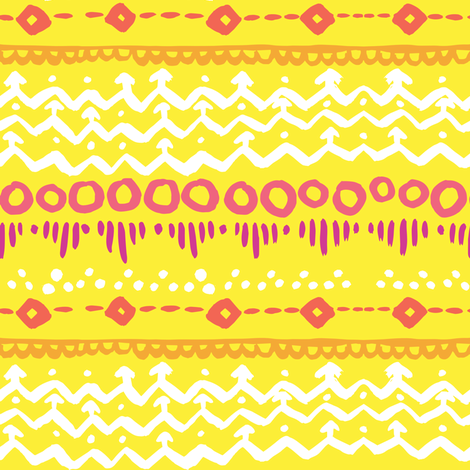 India Ink - Yellow - small fabric by tonia_dee on Spoonflower - custom fabric