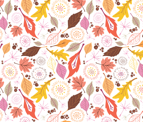 Falling for Fall fabric by tonia_dee on Spoonflower - custom fabric