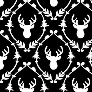 OH DEER (black & white)