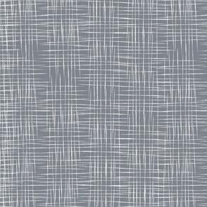 Faux Linen - Grey
