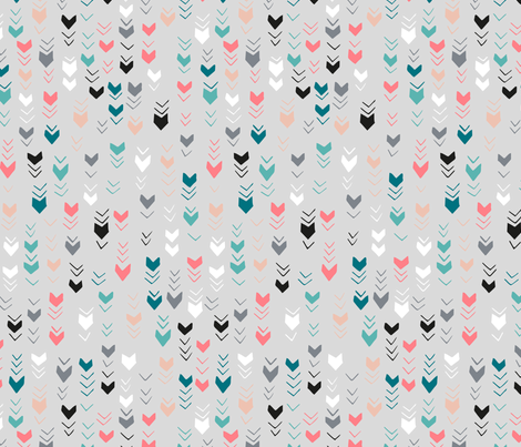 Feather Marks - Grey fabric by pinky_wittingslow on Spoonflower - custom fabric