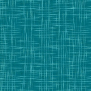 Faux Linen - Dark Teal