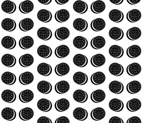 Oreo fabric white fabric by cityette on Spoonflower - custom fabric