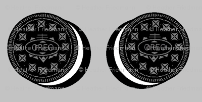 Oreo cookies on grey
