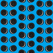 oreo cookies on medium blue