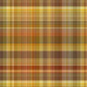 Yellow and Brown Plaid