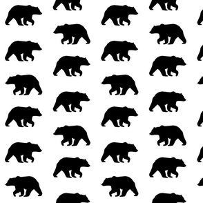 Bear Hike // Black bear on white