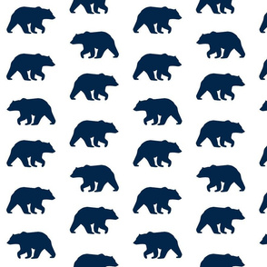 Bear Hike // Navy on white