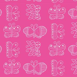 Butterfly Fairy Garden Pink