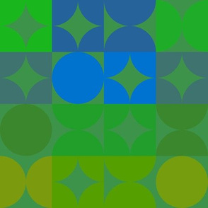 Mod Green and Blue Geometric