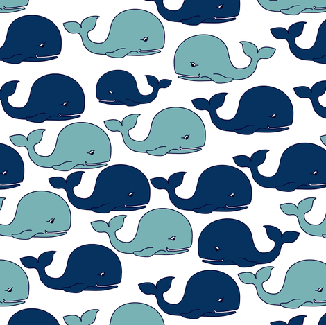 WhalePattern60 Fabric Lilithdeanu Spoonflower Interesting Whale Pattern