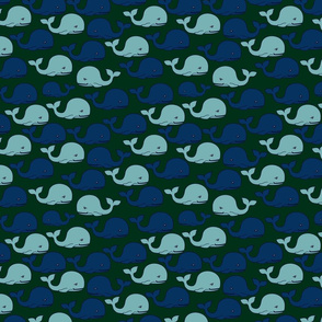 Whale-Pattern-1-GreenBKGD