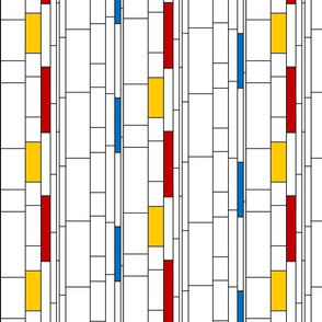Mondrian-inspired stripes - color
