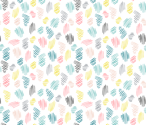 Bird Scratchings - White fabric by pinky_wittingslow on Spoonflower - custom fabric
