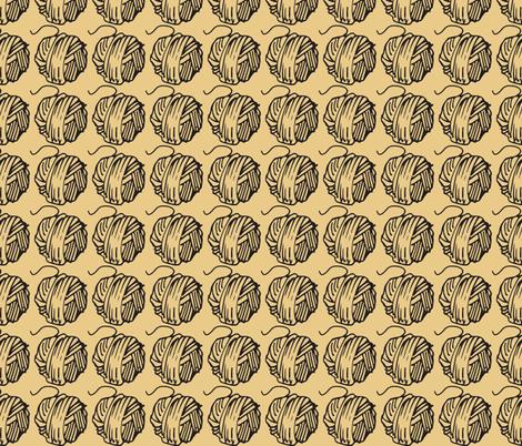 black & tan yarnballs fabric by madmelody on Spoonflower - custom fabric