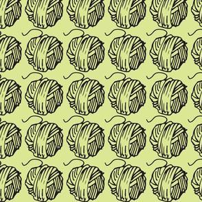 Green Tea and Ball of Yarn