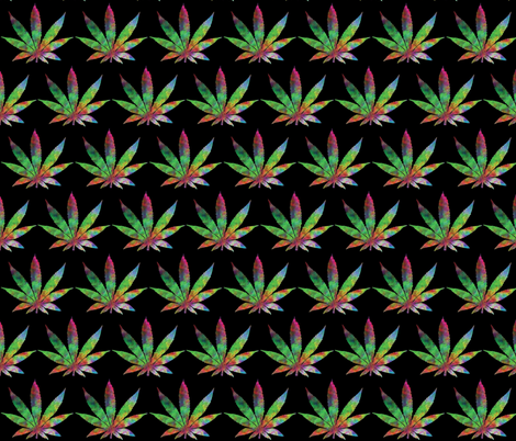 Weed Trip fabric by in_focus on Spoonflower - custom fabric