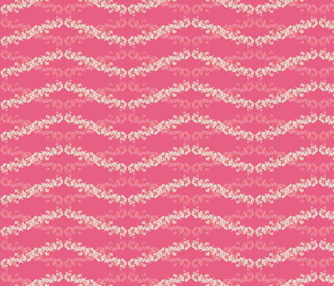 Flower Wave Pink fabric by amyjeanne_wpg on Spoonflower - custom fabric