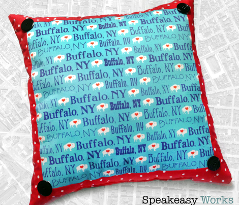 Buffalo, NY (Teal and Navy)