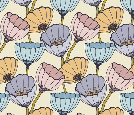 Anemone colours fabric by feliciadavidsson on Spoonflower - custom fabric