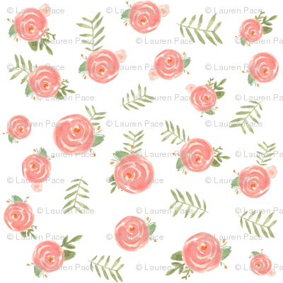 Soft Floral Wallpaper Pacemadedesigns Spoonflower