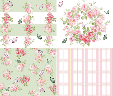 Of Wildflowers and Wings fabric by lilyoake on Spoonflower - custom fabric