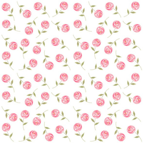 Single Floral Watercolor Wallpaper