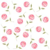 Single Floral Watercolor Wallpaper