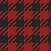 90's Black and Red Buffalo Check Plaid
