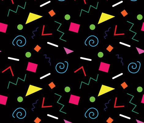 Early 90's Confetti Toss fabric by elliottdesignfactory on Spoonflower - custom fabric