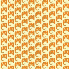 SMALL Elephants Orange Creme