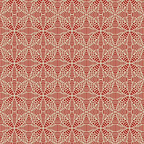 Burgundy White Fish Petals fabric by eve_catt_art on Spoonflower - custom fabric