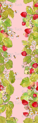 Strawberry Patch with Bees