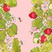 Strawberry_print_rows_with_bees_150_dpi_shop_thumb