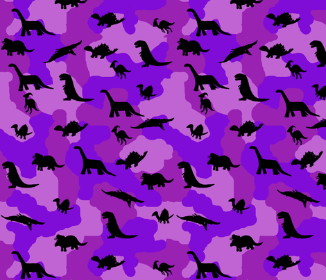 Dino camo purple fabric kimberlehi spoonflower for Purple dinosaur fabric