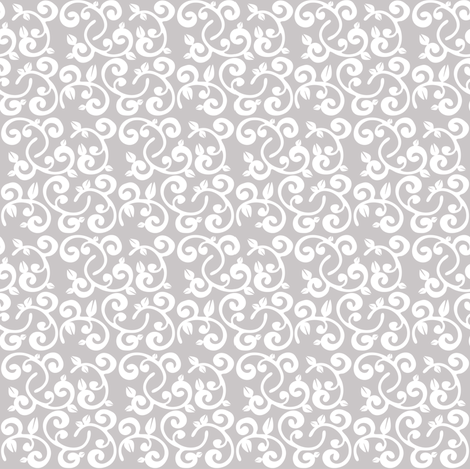 Gray Background Floral Vines fabric by pearl&phire on Spoonflower - custom fabric