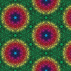 Rainbow Scrolly Snowflake