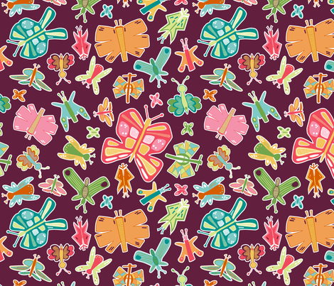 Butterfly Party (Afternoon) fabric by brendazapotosky on Spoonflower - custom fabric