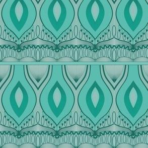 Nouveau Flame Print Green