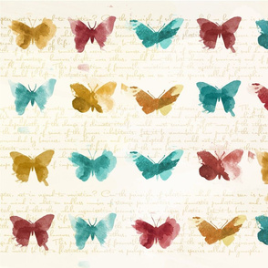 watercolour butterfly stamps